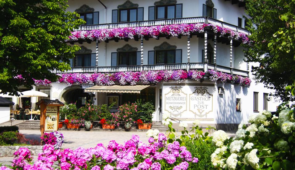Landgasthof zur Post in Schleching, Außenansicht