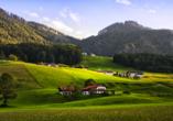 Landgasthof zur Post in Schleching, Bergidylle