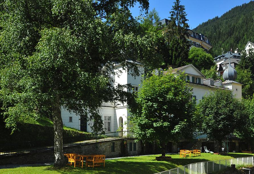 Hotel Elisabethpark in Bad Gastein im Salzburger Land, Park