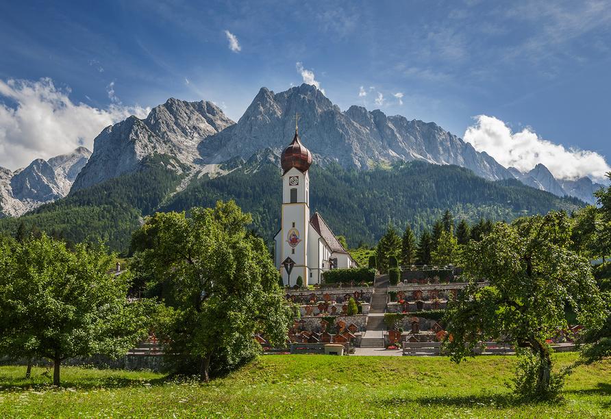 Hotel Vier Jahreszeiten in Garmisch-Partenkirchen, Ausflugsziel Grainau