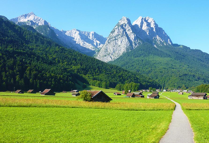 Hotel Vier Jahreszeiten in Garmisch-Partenkirchen, Alpenpanorama