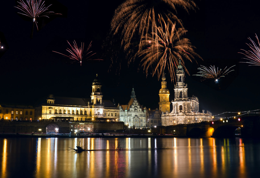Holiday Inn Dresden - City South, Feuerwerk
