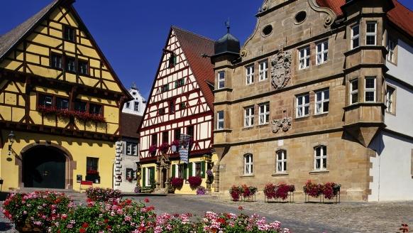 Hotel Gasthof Alte Vogtei in Wolframs-Eschenbach, Marktplatz