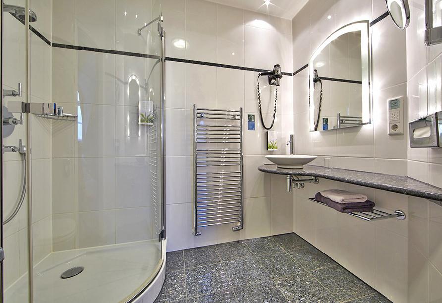 Hotel Linderhof in Erfurt, Beispiel eines Badezimmers
