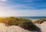 Unternehmen Sie eine erlebnisreiche Radtour entlang der herrlichen Küste.