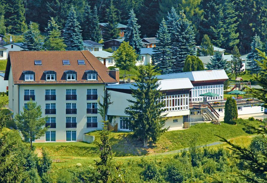 Waldhotel Feldbachtal in Lichte im Thüringer Wald, Außenansicht