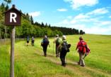 Waldhotel Feldbachtal in Lichte im Thüringer Wald, Wanderung am Rennsteig