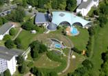 Hotel an der Therme Bad Sulza in Bad Sulza in Thüringen Luftaufnahme
