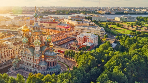 St. Petersburg, Venedig des Nordens, Luftansicht