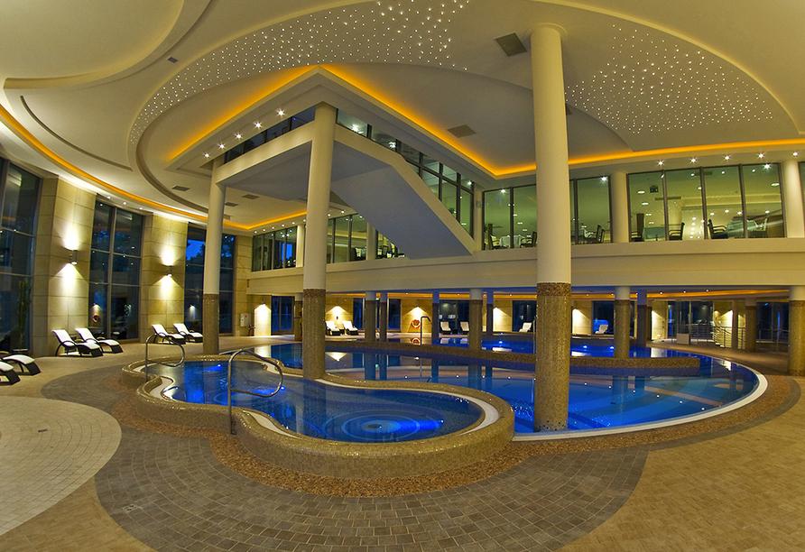 HAVET Hotel Resort & Spa, Dwirzyno, Kolberger Deep, Polnische Ostsee, Hallenbad