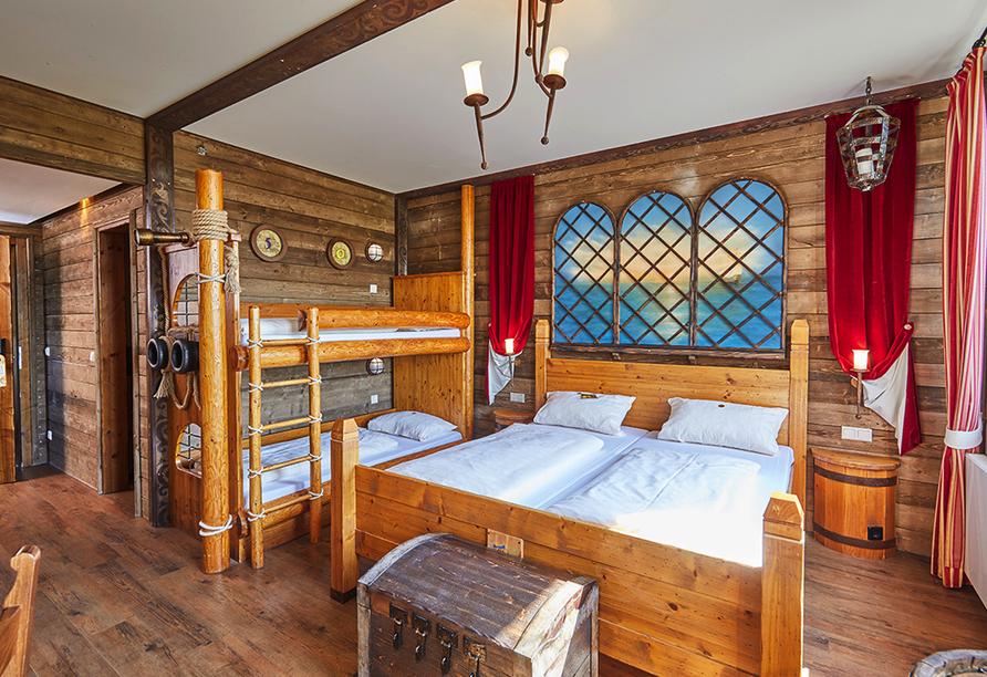 Heide Park Resort Soltau, Beispiel Piratenzimmer