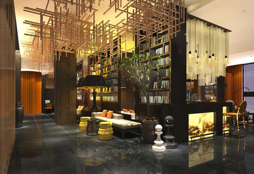 Die Lobby im Holiday Inn Financial District