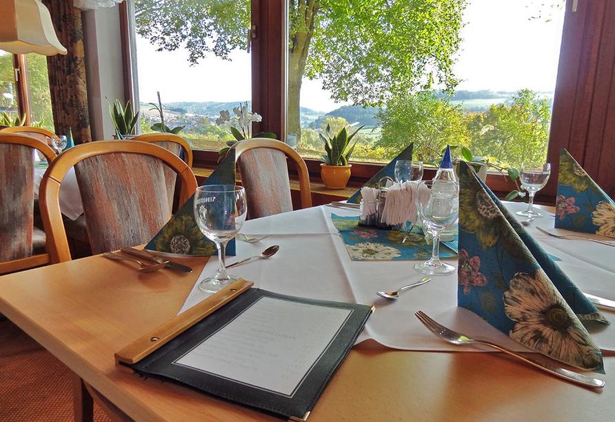 Vitalhotel König am Park in Bad Mergentheim im Tal der Tauber, Restaurant