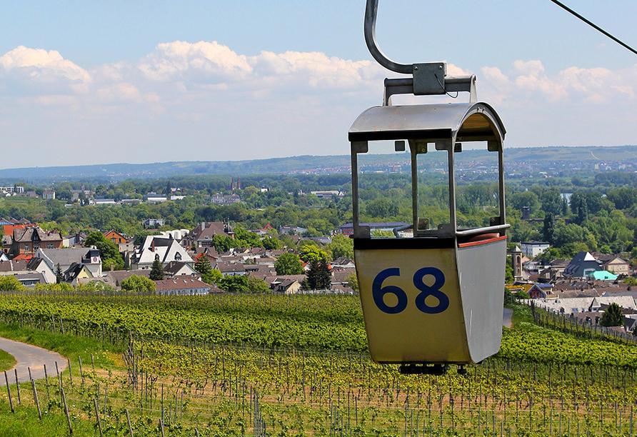 Hoteltraube in Rüdesheim Hessen, Kabinenseilbahn