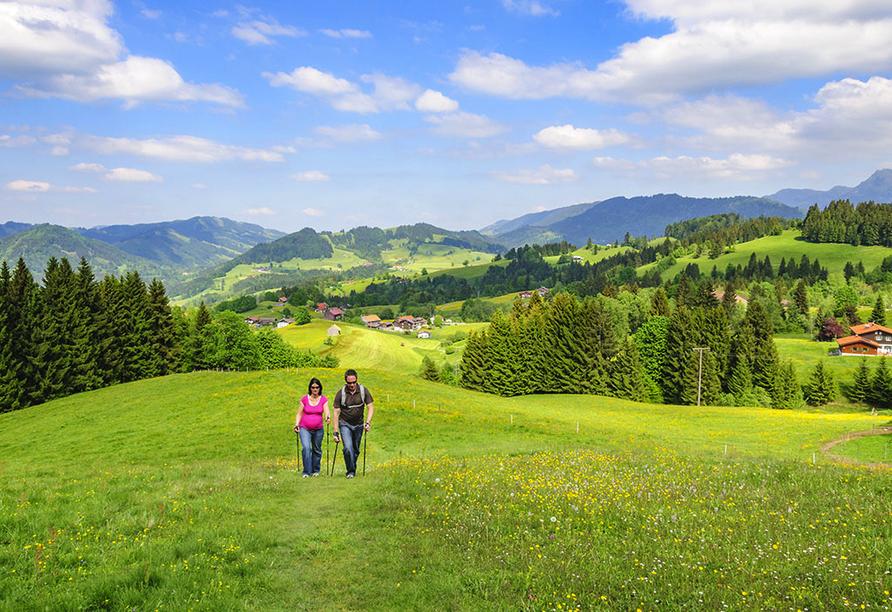 Golf & Alpin Wellness Resort Ludwig Royal Oberstaufen Allgäu, Wandern