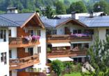 Hotel Aurach in Österreich, Außenansicht