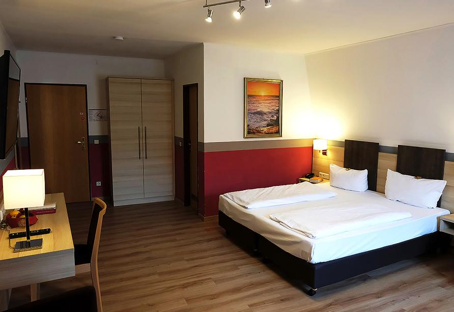Romantica Hotel Blauer Hecht in Dinkelsbühl, Beispiel Doppelzimmer Komfort