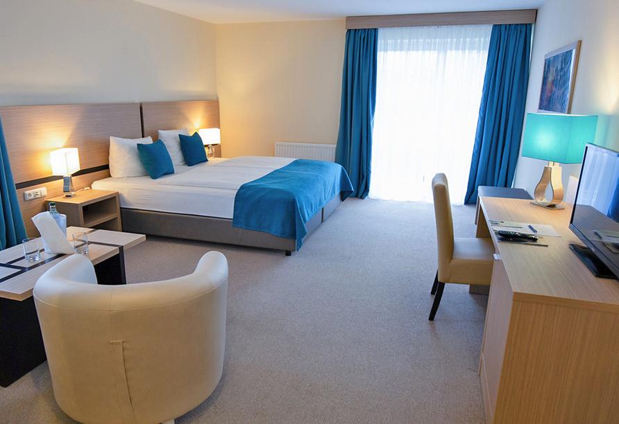Beispiel für ein renoviertes Zimmer Komfort im Heide Hotel Reinstorf.