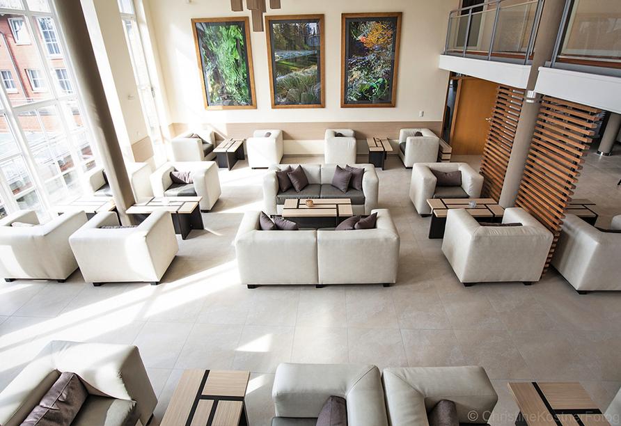 Die Lobby in Ihrem Urlaubsdomizil in der Lüneburger Heide.