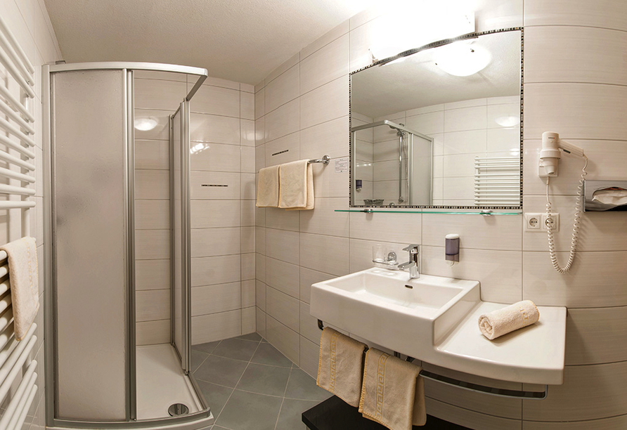Hotel Edelweiss in Pfunds, Badezimmerbeispiel