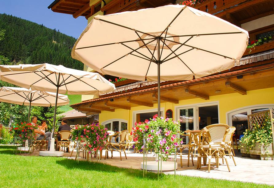 Hotel Pinzger, Terrasse