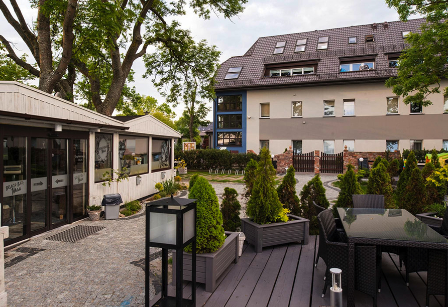 Terrasse vom Hotel Max