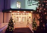 Ringhotel Villa Margarete in Waren (Müritz), Außenansicht Weihnachten
