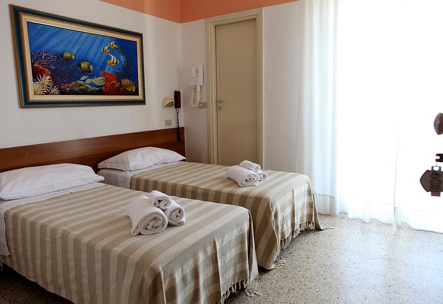 Hotel Staccoli Rimini Zimmerbeispiel