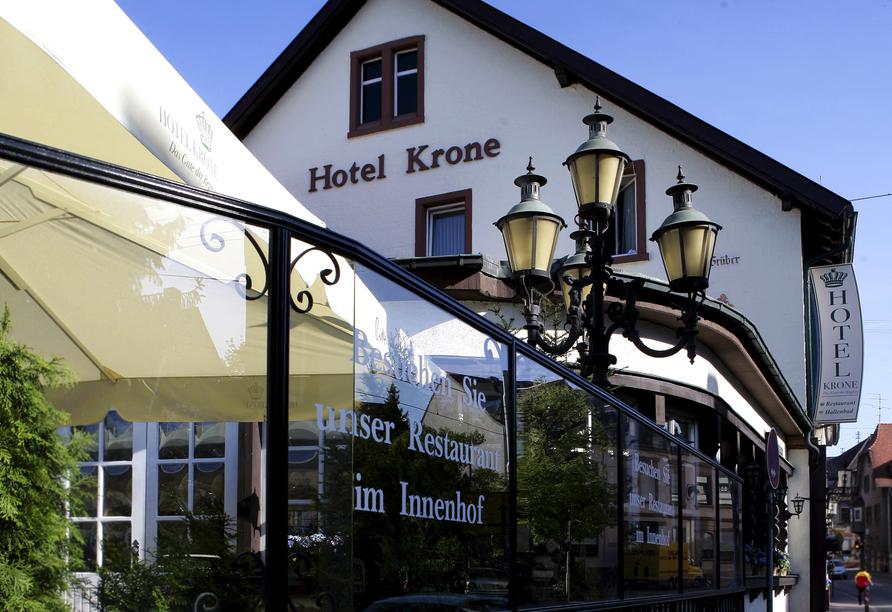 Hotel Krone in Hirschberg-Großsachsen an der Badischen Bergstraße, Außenansicht