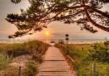 AQUAMARIS Strandresidenz Rügen an der Ostsee, Sonnenuntergang