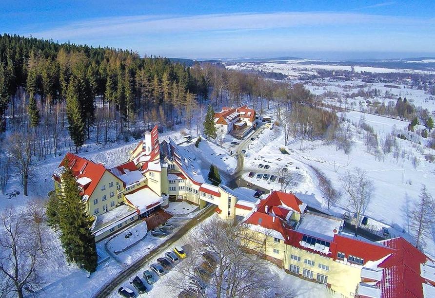 Hotel Klinika Mlodosci Medical SPA Bad Flinsberg Niederschlesien, Winter
