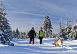 Burghotel Am Hohen Bogen in Neukirchen beim Heiligen Blut, Winterspaziergang im Bayerischen Wald