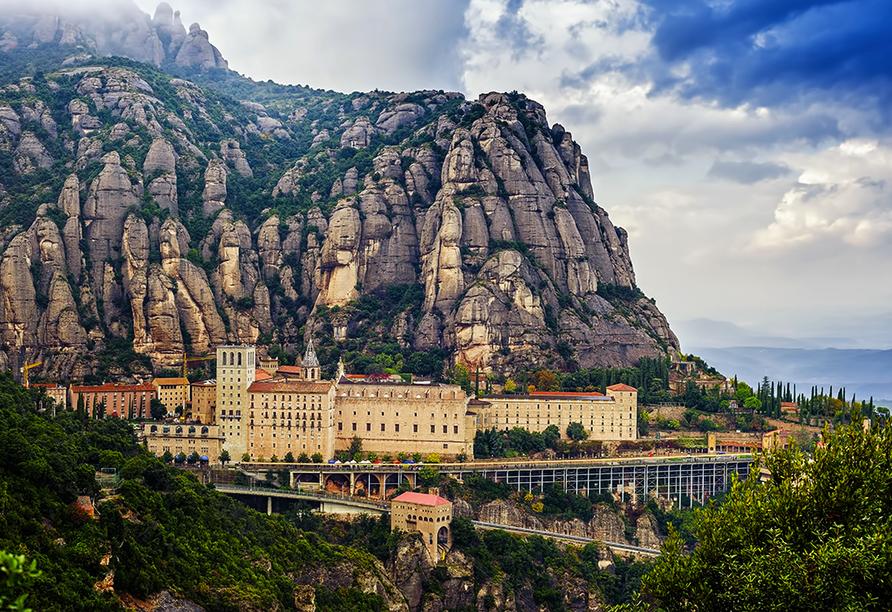 Freuen Sie sich auf das eindrucksvolle Bergkloster Montserrat.