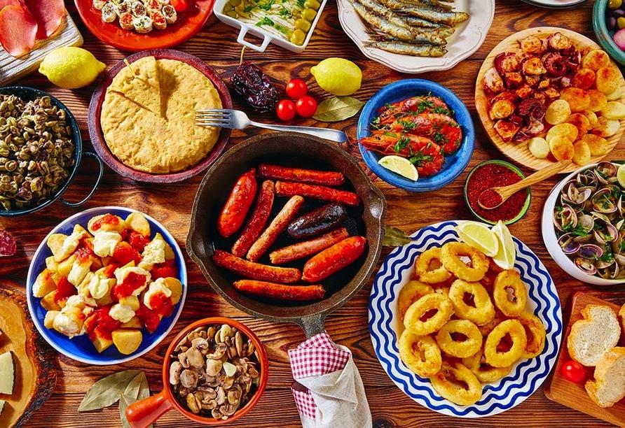 Lassen Sie sich während Ihres Urlaubs auch kulinarisch verwöhnen.