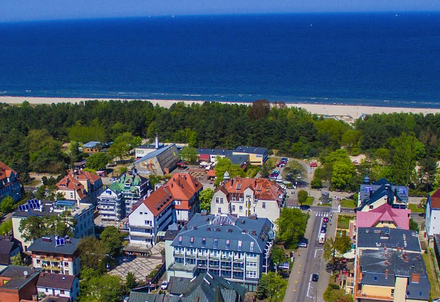 Hotel Atol Resort in Swinemünde, Polnische Ostsee, Lage