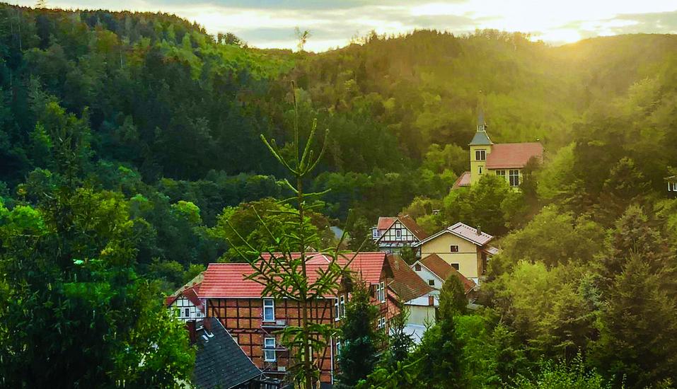 Waldhotel Altenbrak in Thale, Sonnenuntergang für Altenbrak