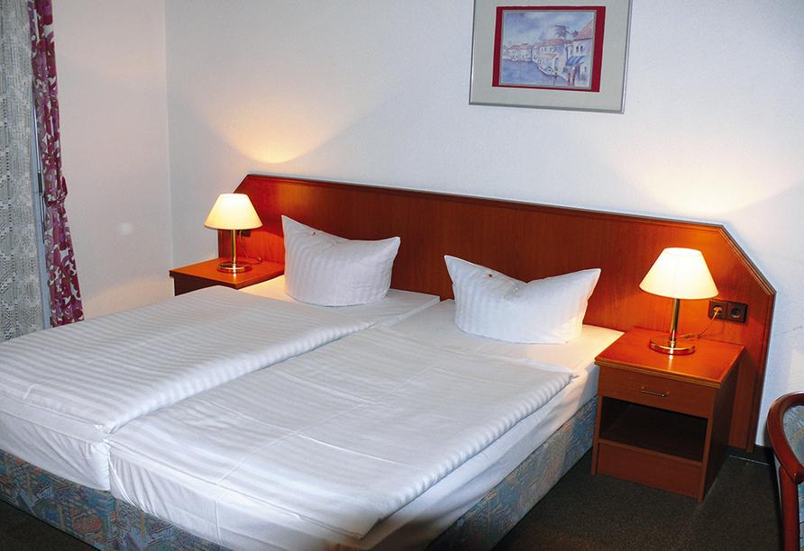 Hotel Neetzer Hof in Neetze in der Lüneburger Heide, Beispiel eines Doppelzimmers