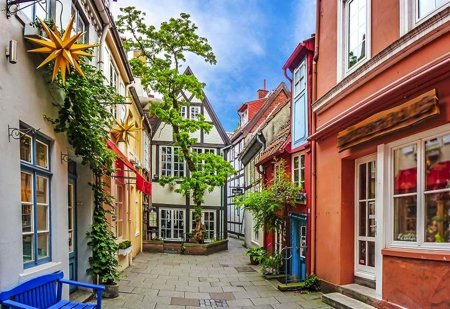 Hotel zur Riede in Delmenhorst, Schnoor-Viertel