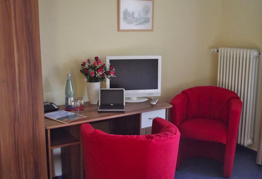 Hotel Zum Weissen Lamm in Rothenberg-Kortelshütte im Odenwald, Zimmerbeispiel