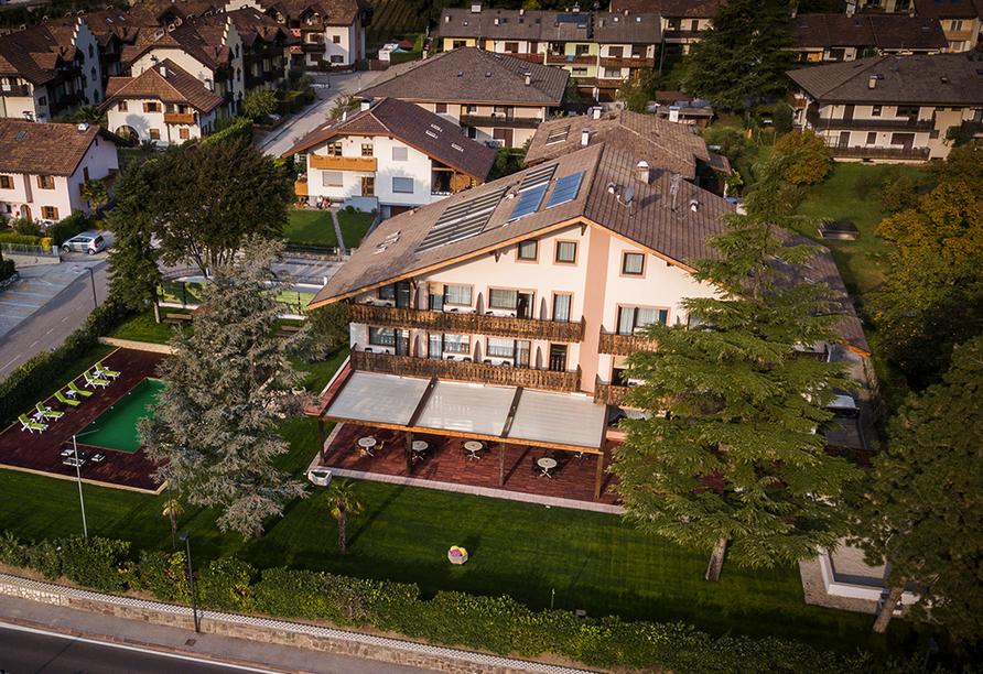 Park Hotel Margreid an der Weinstraße, Luftansicht