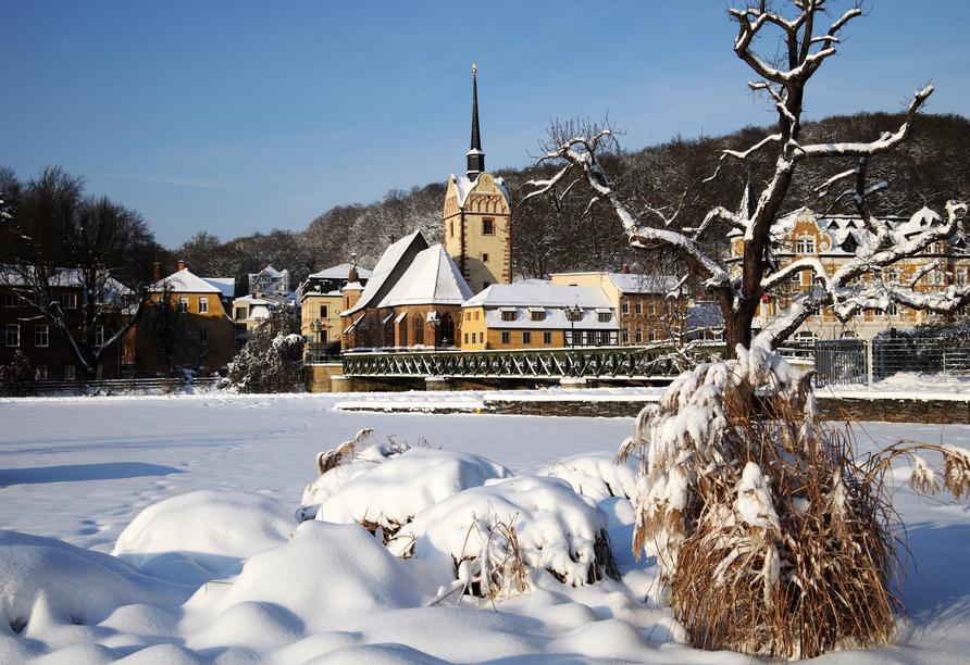 Hotel Goldner Loewe in Bad Köstritz, Gera im Winter