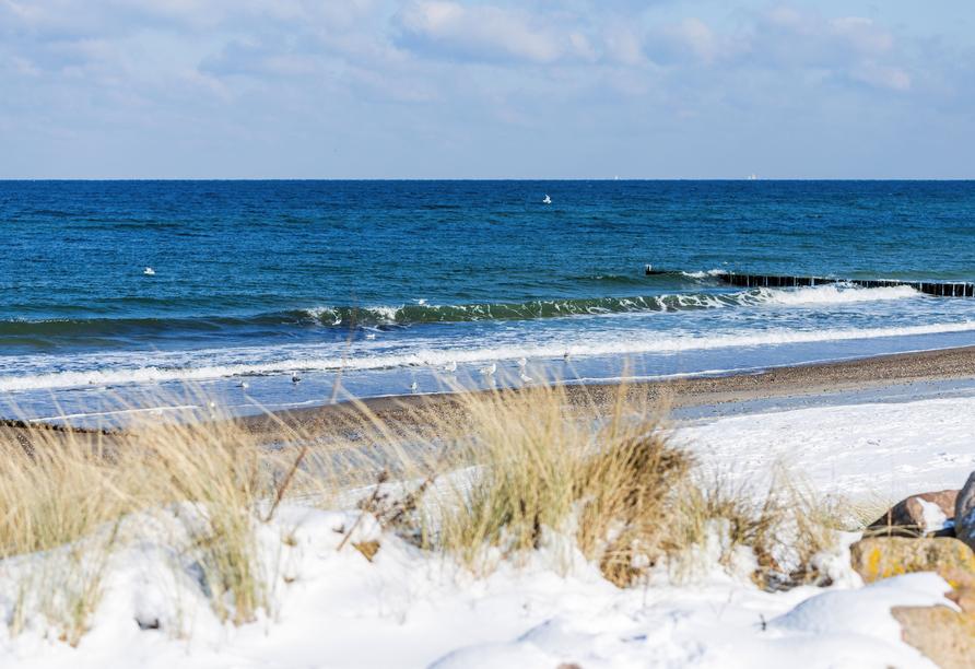 Hotel Pension Zum Himmel in Rubenow an der Ostsee, Ostseeküste Schnee