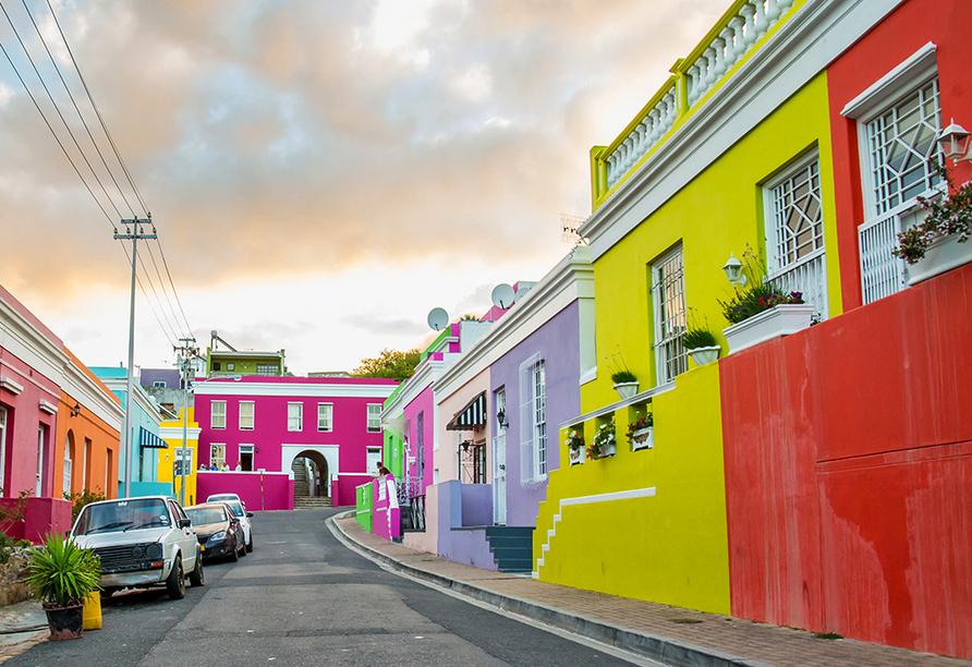 Das bunteste Viertel Kapstadts - Kap-Boo - ist einen Besuch wert.