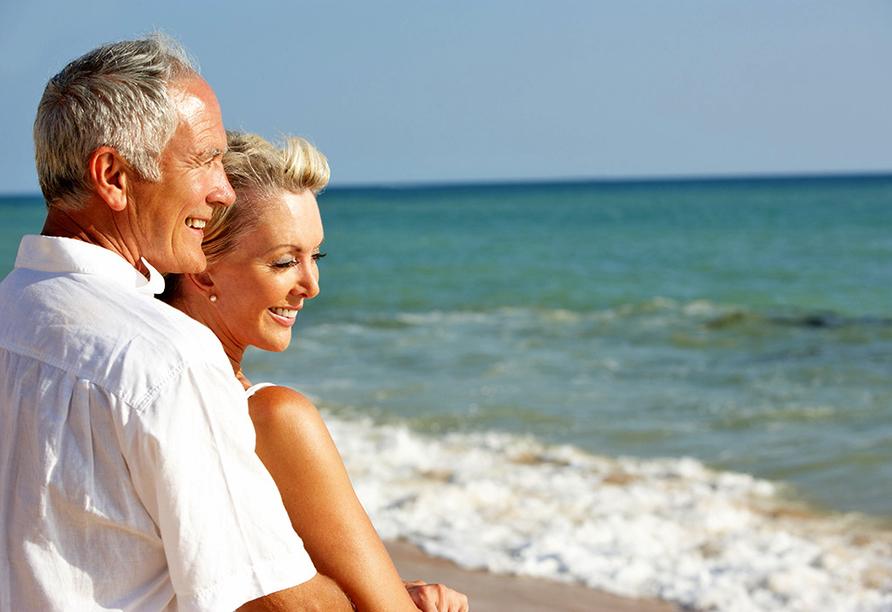 Verbringen Sie eine erholsame Zeit am Strand.