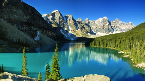 West-Kanada-Reise, Lake Moraine im Banff National Park