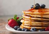 West-Kanada-Reise, Pfannkuchen mit Ahornsirup