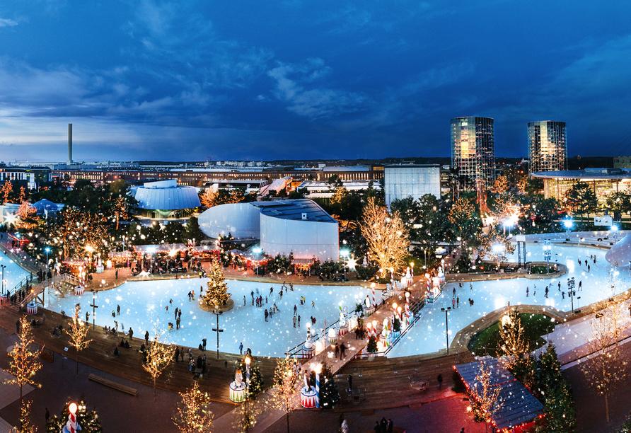 Autostadt Wolfsburg, Traumhafte Winterwelt