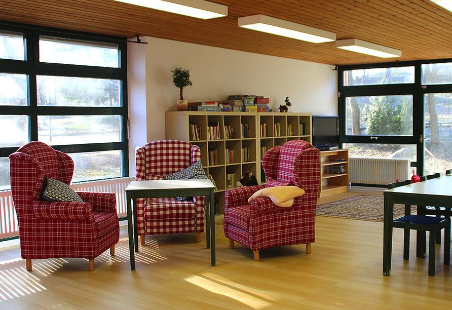 Landhotel am Sonnenhang in Pleystein, Leseraum bzw. Spielzimmer