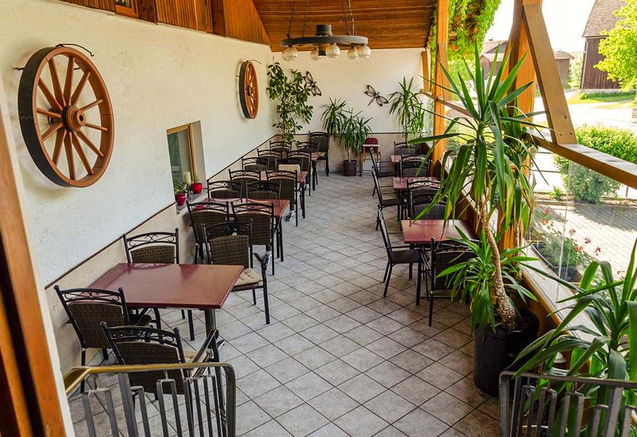 Gasthof Altmann in Warzenried, Terrasse
