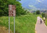 Etsch-Radweg, Wegweiser